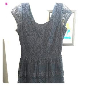 Lacy Navy-colored Dress by Maison Jules